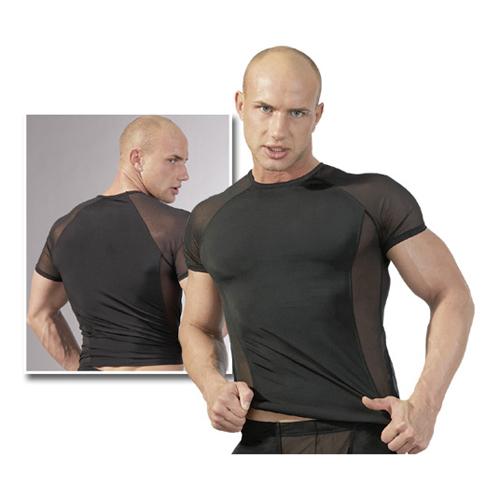 Trendy zwart heren shirt