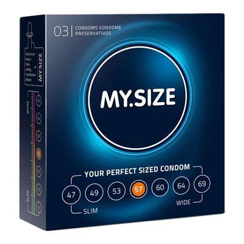 MY.SIZE 57 mm Condooms 3 stuks