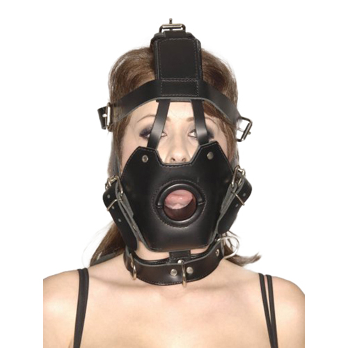 Strict Leather Premium Muzzle with Open Mouth Gag