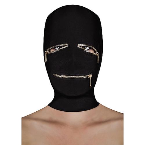 BDSM masker met ritsjes over de ogen en mond