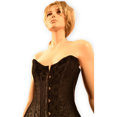 Luxe zwart brocante corset