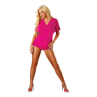Roze T-shirt bamboe
