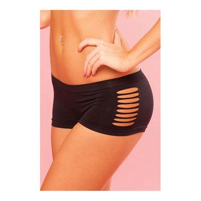 Zwarte short met uitgesneden zijkanten
