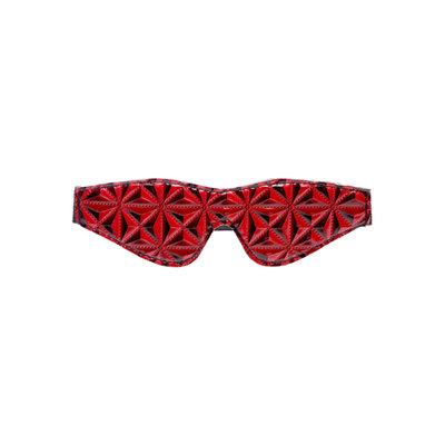 Diamant Patroon Blinddoek - zwart/rood