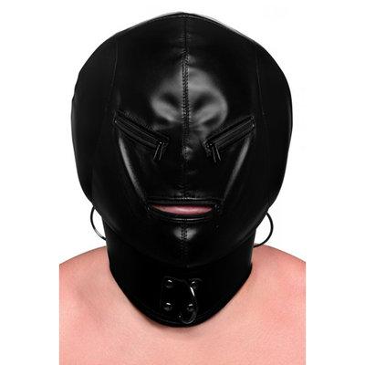 Kunstleren Hoofd Masker Met Ritsen