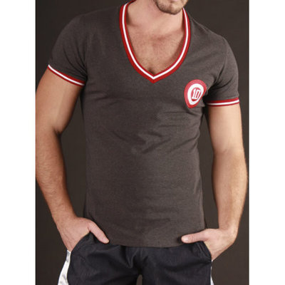 V-Neck Target Berlin Dark Grey