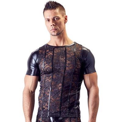 Kanten Shirt Met Wetlook Zijkanten