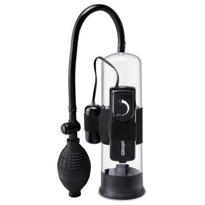 Pump Worx Beginners Vibrerende Penispomp - Zwart