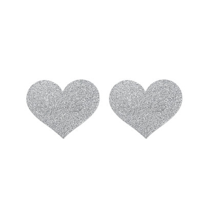 Flash Heart Tepelstickers - Zilver