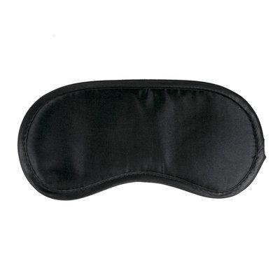 Zwart satijnen oogmasker