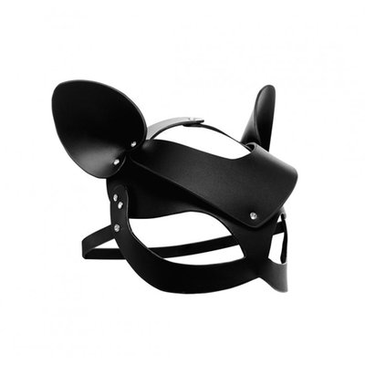 Bad Kitten - Zwart Leren Masker
