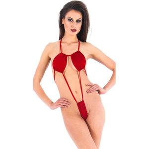 Vixson Minimalistische Body Met Bandjes - Rood