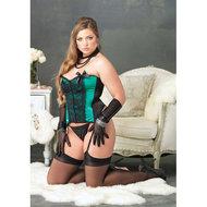 Jade Bustier Set – Zwart/Groen  – Leg Avenue