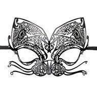 Easytoys Opengewerkt Venetiaans Masker – Zwart  – Easytoys Fetish Collection