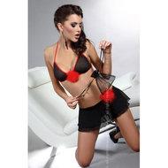 Mojisola Top En Rok – Zwart/Rood  – Livia Corsetti Fashion