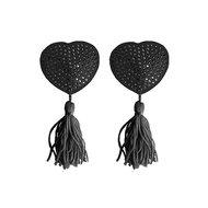 Tepel Kwastjes Hartvorm – Zwart  – Ouch