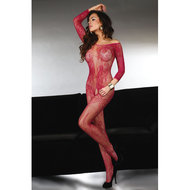 Abra Catsuit Met Open Kruis – Rood  – Livia Corsetti Fashion