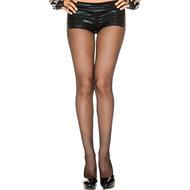 Plus Size Naadloze Visnetpanty – Zwart  – Music Legs
