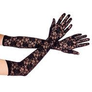 Lange Kanten Handschoenen – Zwart  – Musiclegs