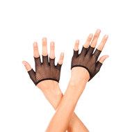 Korte Vingerloze Visnet Handschoenen – Zwart  – Musiclegs