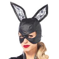 Kunstleren Bunny Masker – Zwart  – Leg Avenue