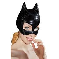 Lak Masker Met Kattenoortjes  – Black Level
