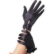 Handschoenen Met Strik – Zwart  – Fever