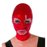 Latex Hoofdmasker – Rood  – The Latex Collection